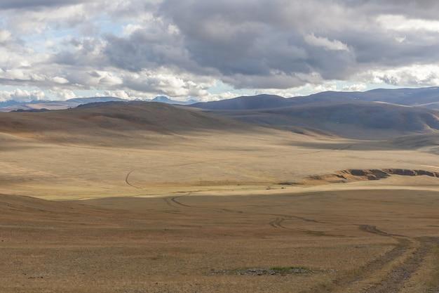 Mongolia landscape. altai tavan bogd national park in bayar-ulgii