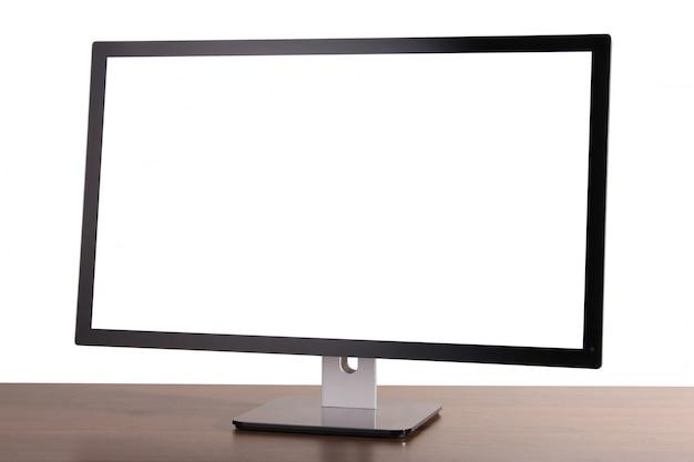 Monitor on white
