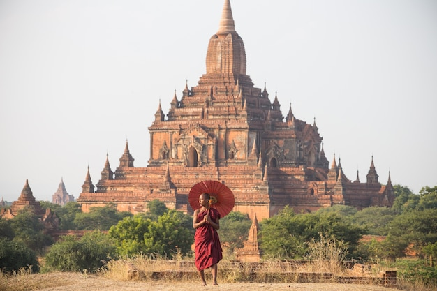 Monk of bagan , myanmar