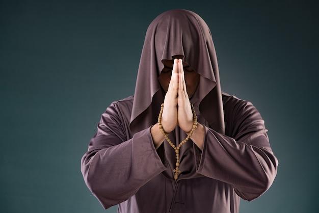 Monk in religious concept