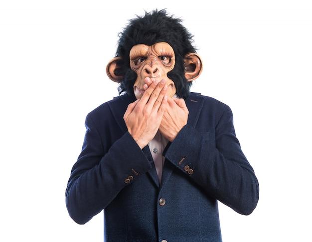 Monkey man doing surprise gesture