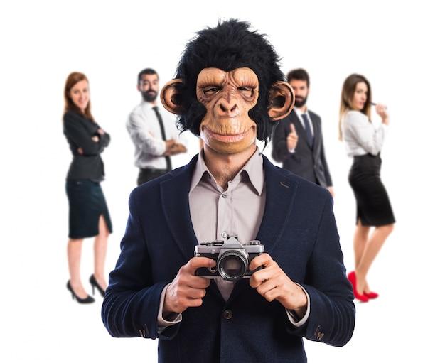 Monkey man photographing