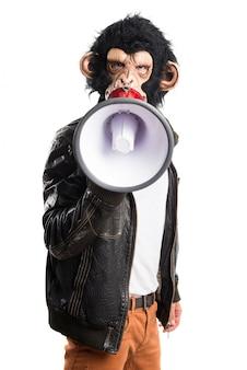 Monkey man shouting