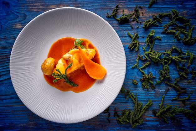 Monkfish rape recipe with codium