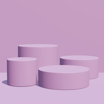 Monochromatic color, purple podium, display for place product