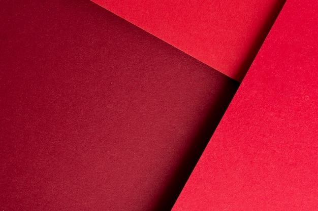 赤い紙で単色の静物画