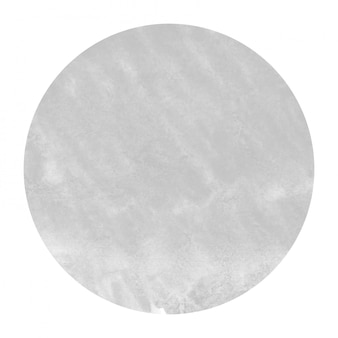 Monochrome hand drawn watercolor circular frame  texture with stains