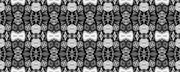 モノクロのシームレスパターン。ボヘミアンを繰り返す