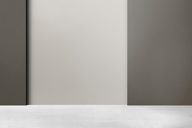 Design interno autentico della stanza vuota monotono