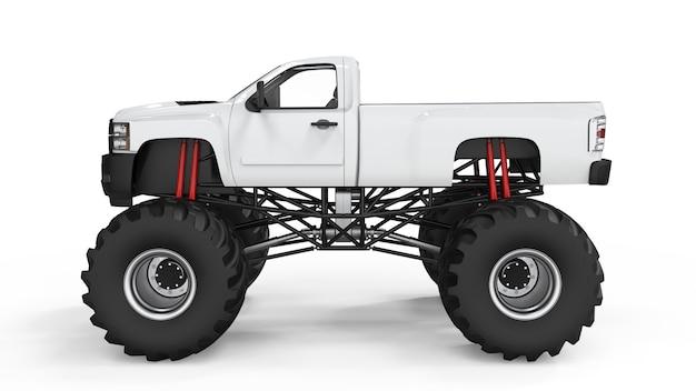 Monster truck for mockup, 3d illustration