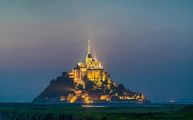 Mont saint michel, a major tourist destination in normandy, france
