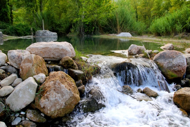 Montanejos自然カステリョン近くミハレス川