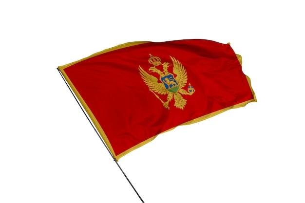 Флаг черногории на белом фоне