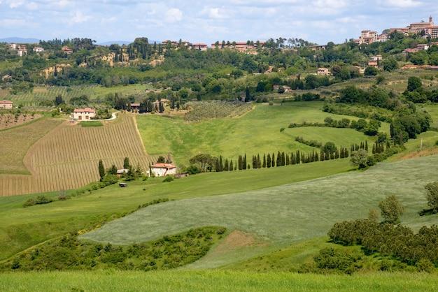 Montepulciano tuscanyitaly  may 17  view of montepulciano italy on may 17 2013