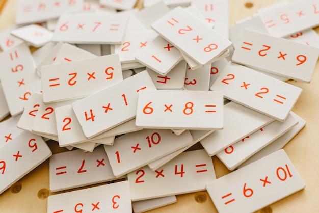 Учебный материал монтессори для обучения детей в области математики