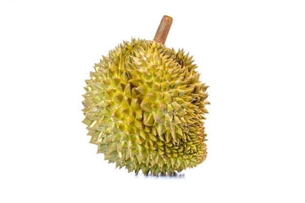 Monthong durian - самый широко экспортируемый фрукт в таиланде, изолированный на белом