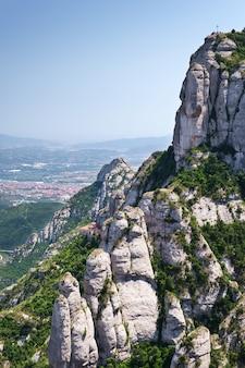 Montserrat is a mountain near barcelona, in catalonia
