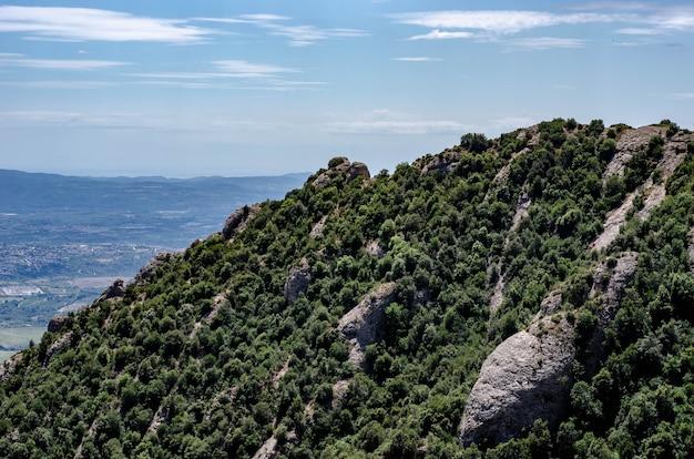 モンセラートの山の風景、バルセロナ