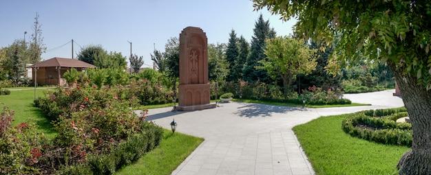 Monument in armenian apostolic church in odessa, ukraine