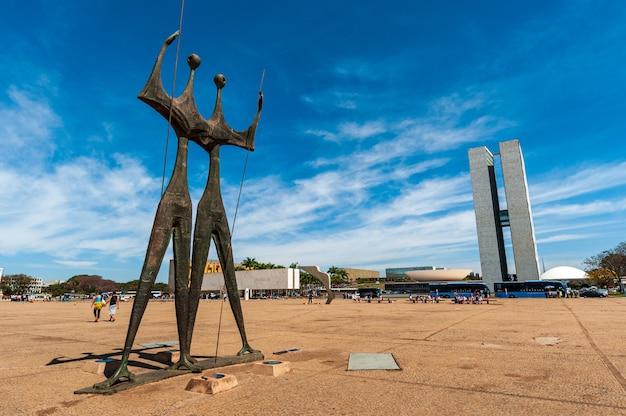 Monument to candangos brasilia df brazil on august 14 2008