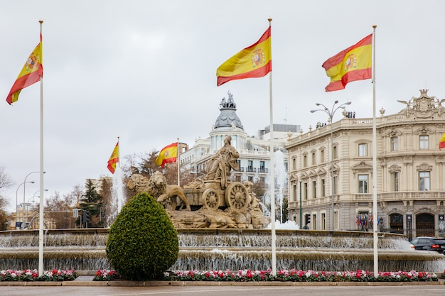 Monument of the cibeles in madrid