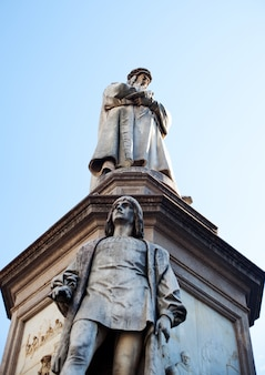 Monument dedicated to leonardo da vinci, milan