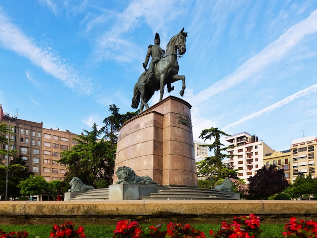 Monument of general espartero at logrono