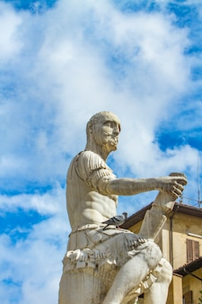 Monument of giovanni delle bande nere in florence