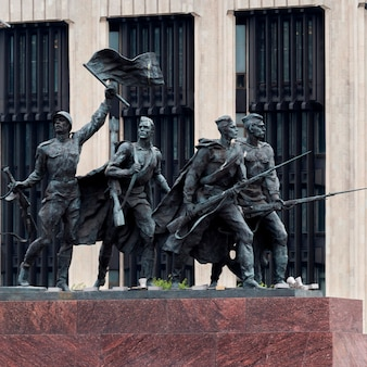 Monument to the heroic defenders of leningrad, victory square, moskovsky prospekt, st. petersburg, russia