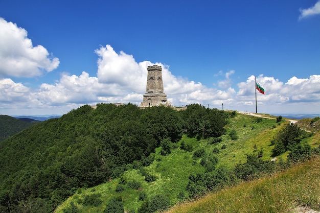 The monument on shipka pass in bulgaria