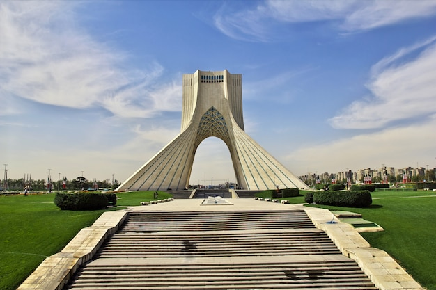 Monument in tehran city of iran