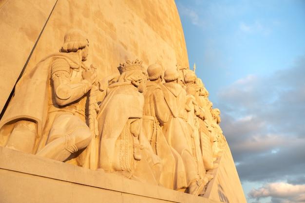포르투갈 리스본 벨렘에 있는 포르투갈 발견자와 인판테 d 엔리케 기념비