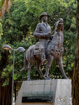 Monument tribute to pedro ludovico teixeira in plaza dr. pedro ludovico teixeira