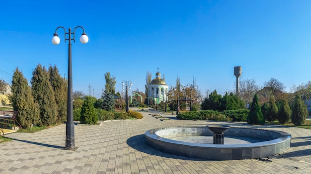 Monument to the victims of the holodomor in dobroslav, ukraine