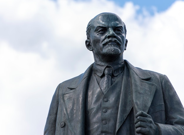Monument to vladimir lenin in moscow in russia