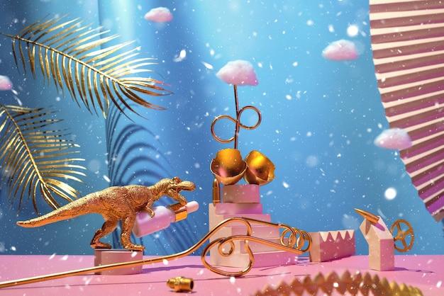 Монументальная композиция с косметическим маслом из яйца динозавра