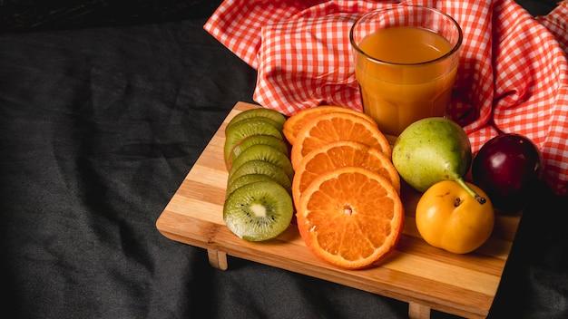 Moody fruit still life