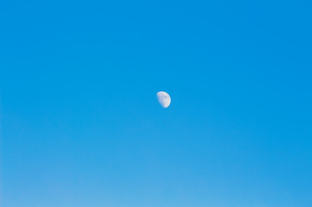 Moon on the blue sky. background, workpiece for design