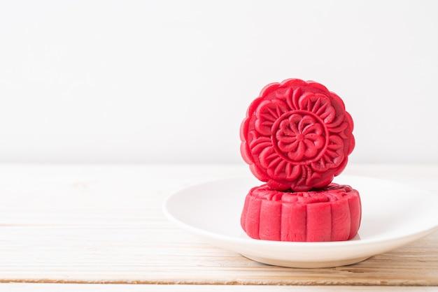 Moon cake red velvet flavour for mid-autumn festival