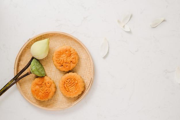 베트남의 월병 전통 케이크-중국 중추절 음식