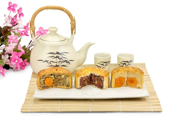 Лунные торты, традиционная китайская выпечка.