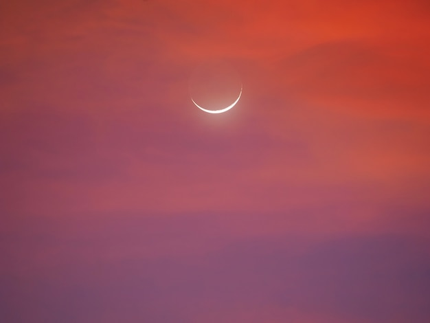 早朝の月の三日月