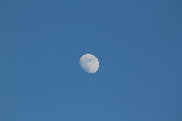 The moon in the daytime.