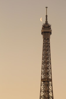 The moon and eiffel