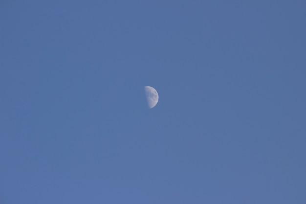 푸른 하늘에 달입니다. 2021년 1월 21일