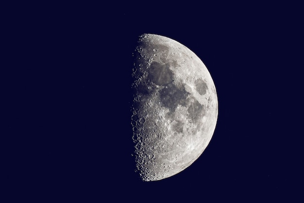 The moon is an astronomical body that orbits planet earth.