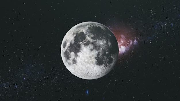 月の軌道フラッドライト表面天の川