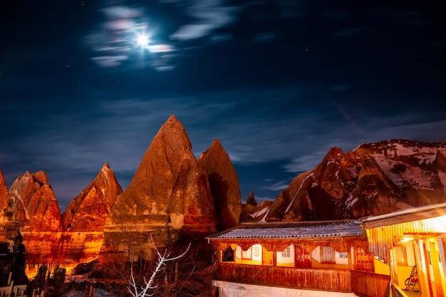 Moonlight night over cappadocia.