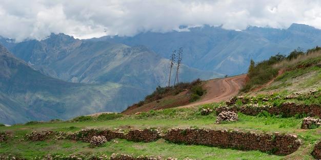 テラス畑の遺跡、ペルー、クスコ寺院、moray、sacred valley
