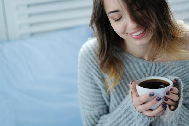Morning breakfast, hot drink